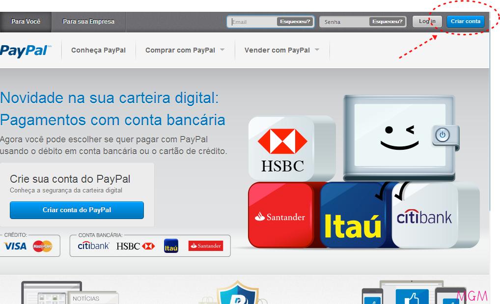 comocadastrarnopaypal - Como Fazer uma Conta no Paypal?