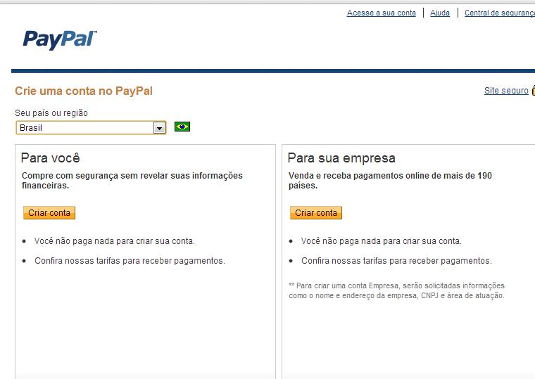 comocadastrarnopaypal2 - Como Fazer uma Conta no Paypal?