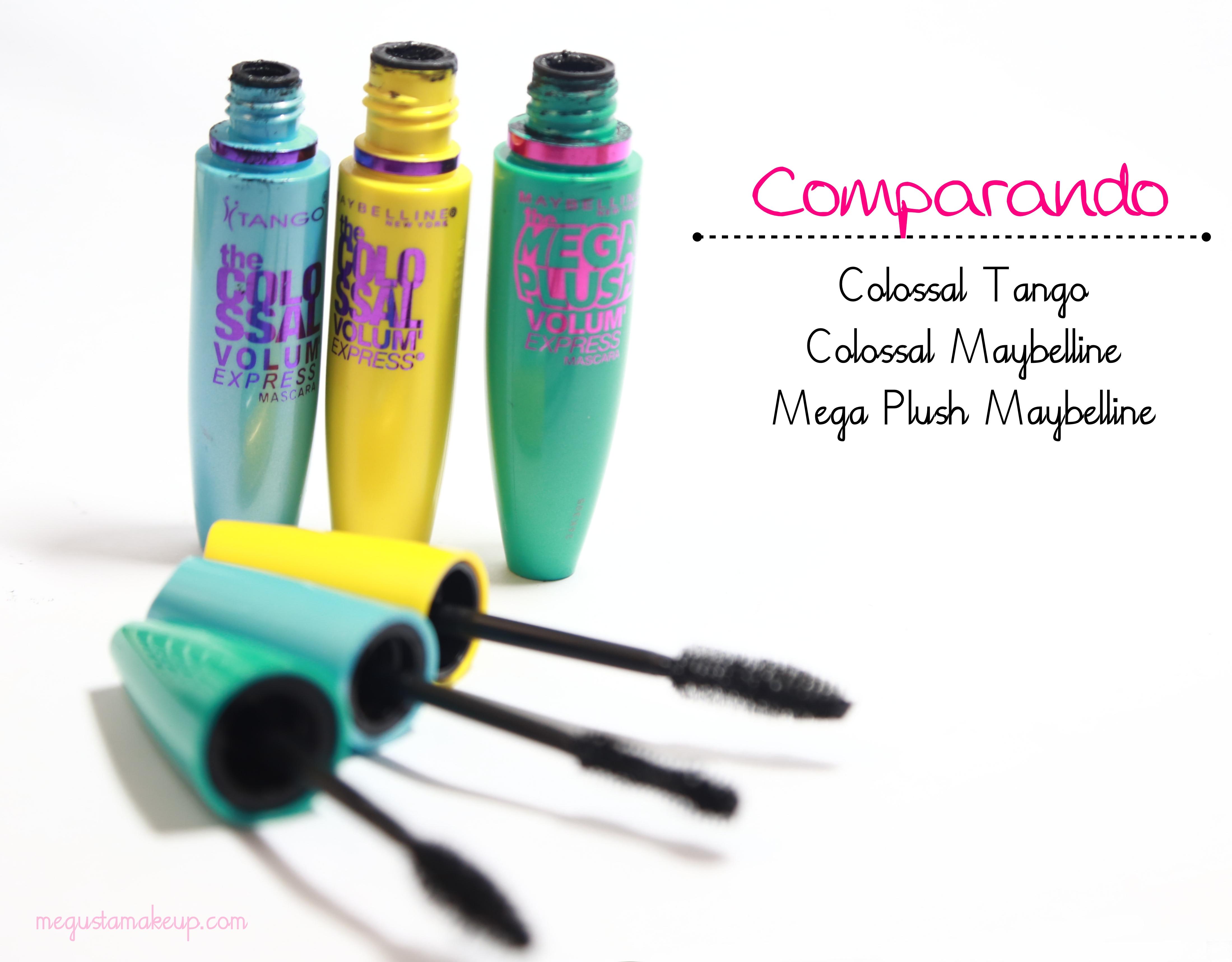 comparando 2 1 - Super Comparação: Mascaras Colossal Maybelline, Colossal Tango e Mega Plush Maybelline