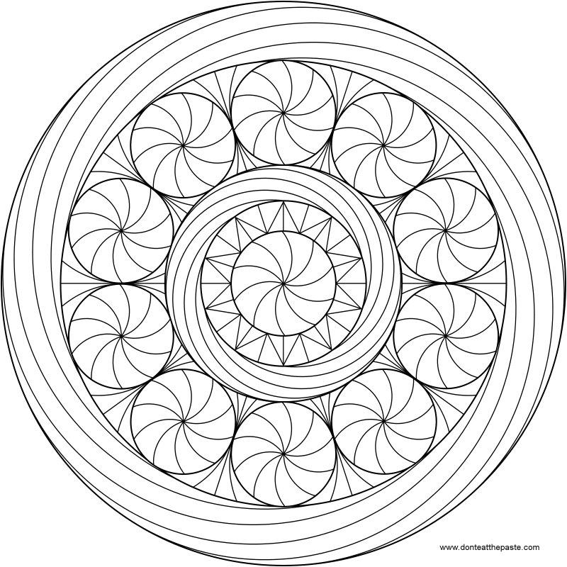 Imagens para colorir em alta 1 - Mandalas para Colorir em Alta Qualidade