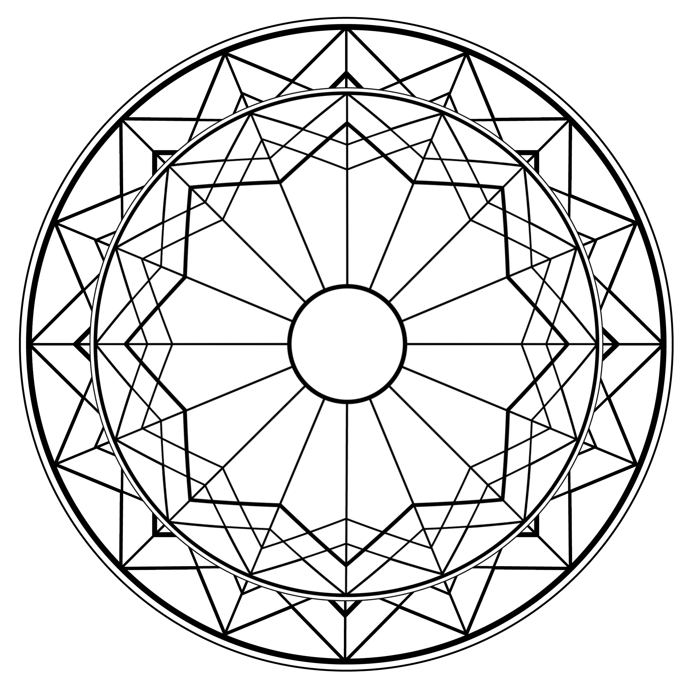 Imagens para colorir em alta 2 - Mandalas para Colorir em Alta Qualidade