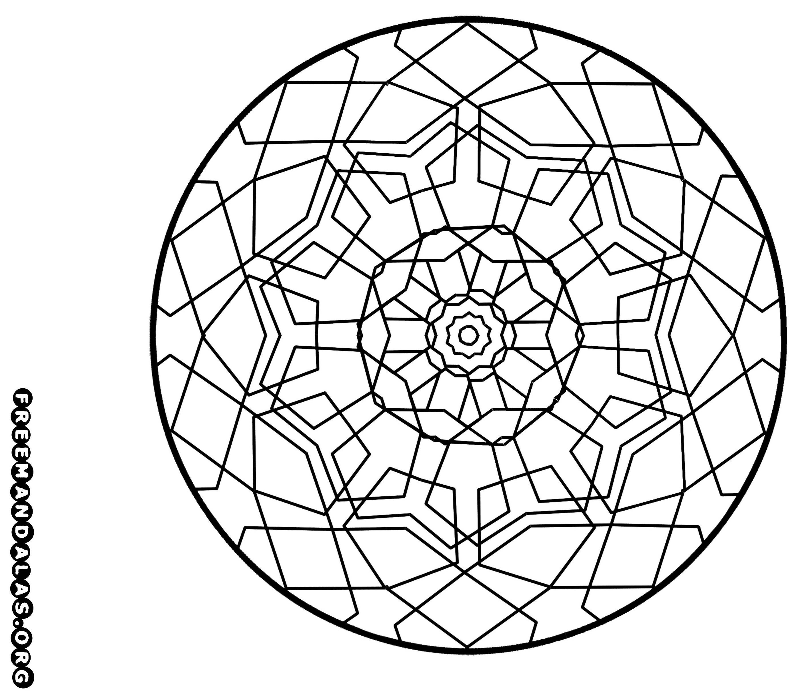 Imagens para colorir em alta 6 - Mandalas para Colorir em Alta Qualidade