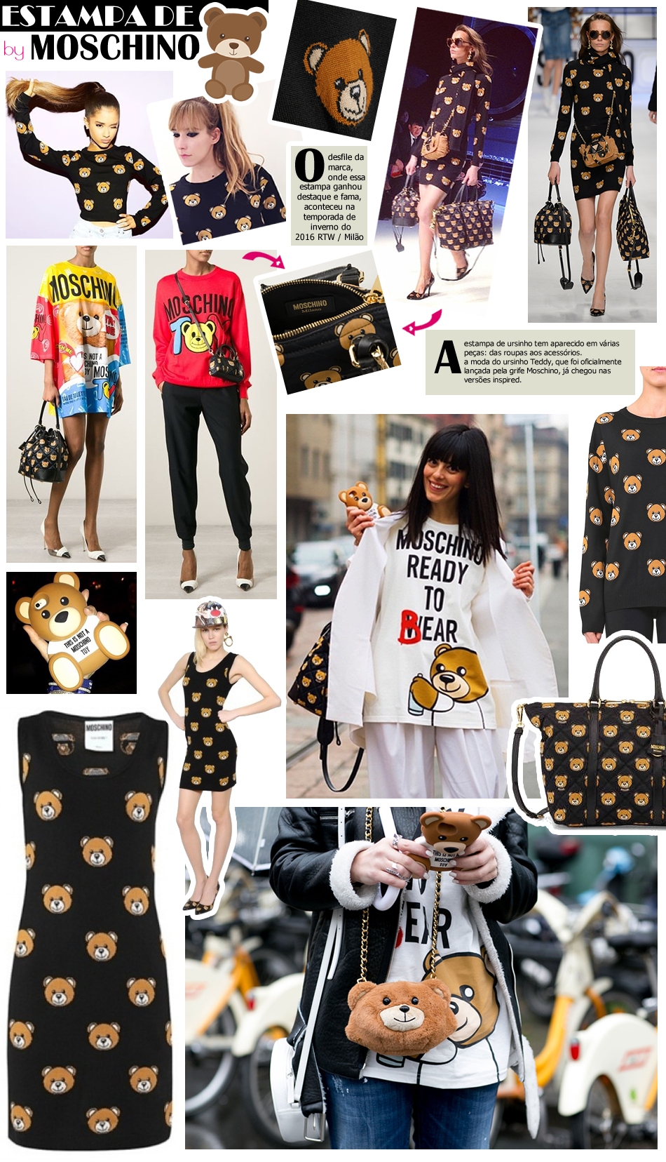 Teddy Bear Fever: A Estampa de Ursinho da Moschino