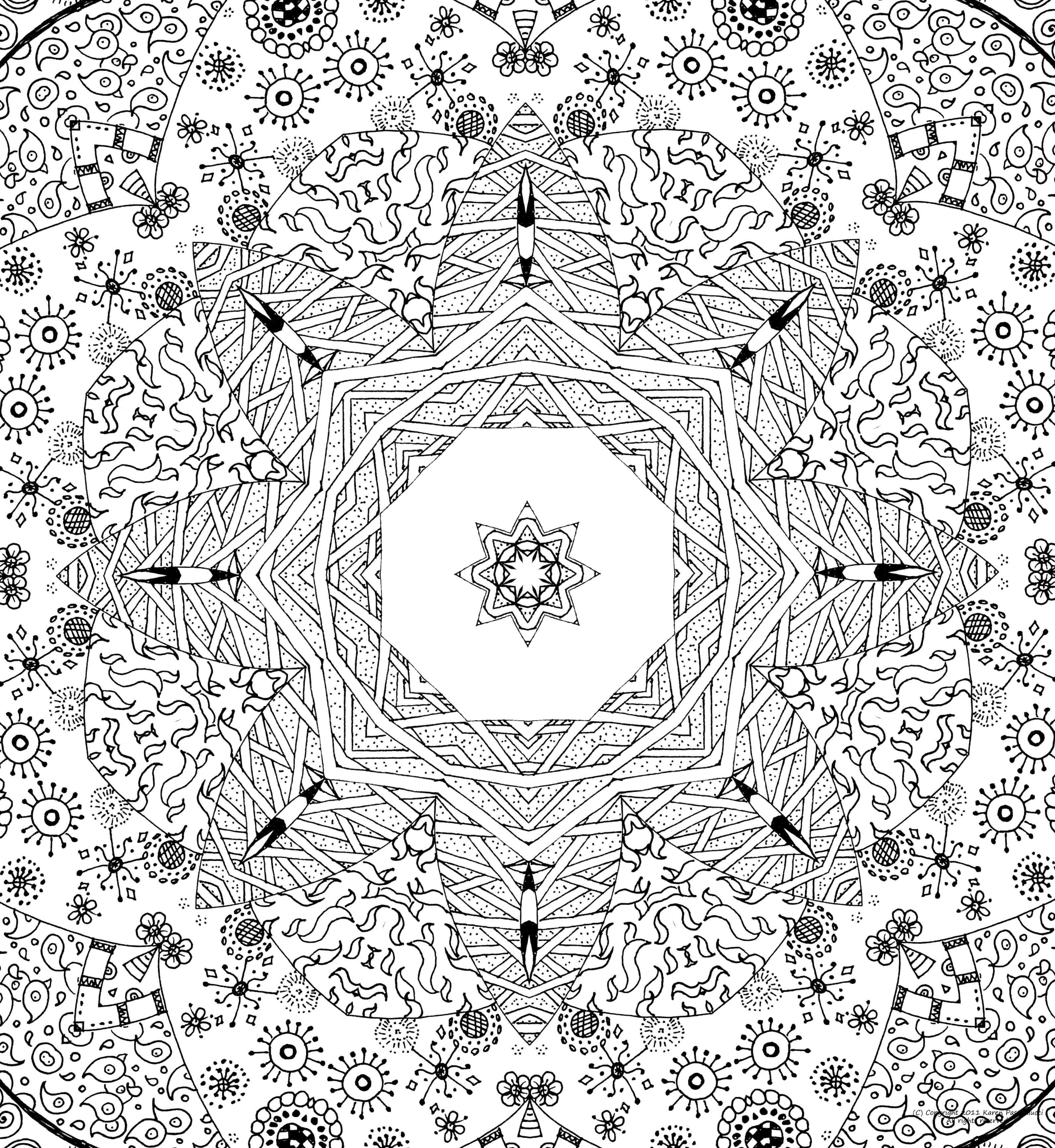imagens para colorir em alta 5 - Mandalas para Colorir em Alta Qualidade