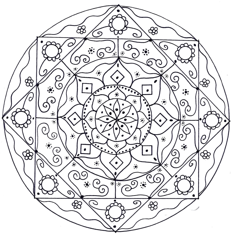 imagens para colorir em alta 8 - Mandalas para Colorir em Alta Qualidade